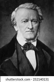 German composer and conductor Richard Wagner, (1813-1883), c. 1850s.