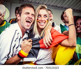 German Couple Supporting the Team