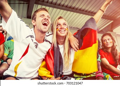 German Couple Supporting the Team, Soccer Championship
