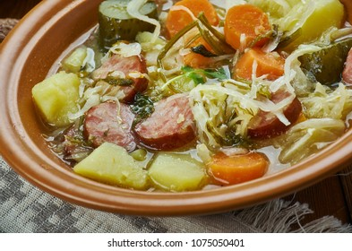 German cuisine ,Kohlsuppe ,Traditional Authentic Slow Cooked German Cabbage Soup