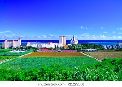German cultural village surrounded by green of Miyakojima