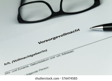 German Document of an Living Will