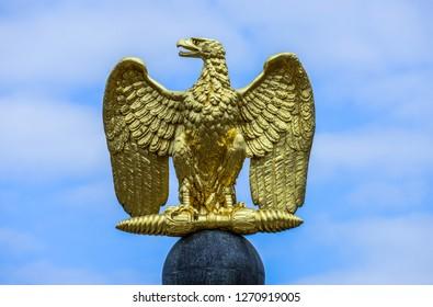 German Eagle golden emblem