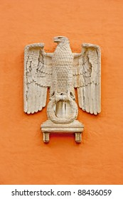 German eagle on the wall in Munich
