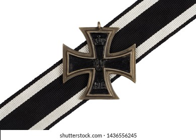 German Empire 1914 award - Iron Cross on white background