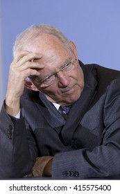 German Federal Minister of Finance Wolfgang Schaeuble (CDU) is pictured during a news conference on the Tax Estimation for the year 2016 in the Ministry of Finance in Berlin, Germany on May 4, 2016.