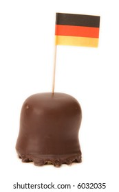 German flag in a chocolate on light tone background