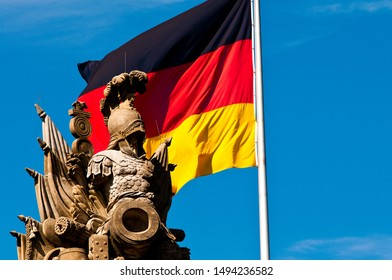 German flag and coat of arms