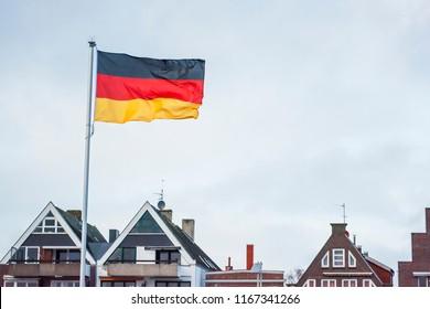 German flag in Travemünde (Germany)