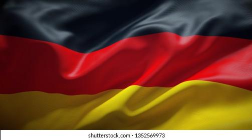 Deutsche Flagge. Deutschland.
