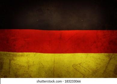 German flag. Grunge effect