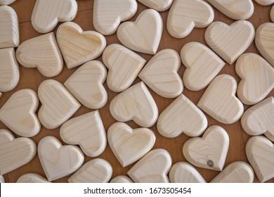 German folk art wooden hearts toys