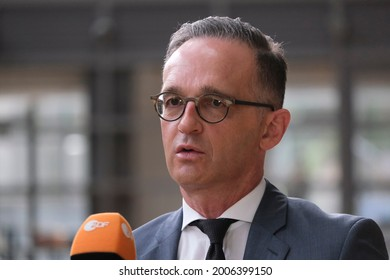 German Foreign Minister Heiko Maas attends a meeting of EU foreign ministers, at the European Council in Brussels, Belgium on July 12, 2021.