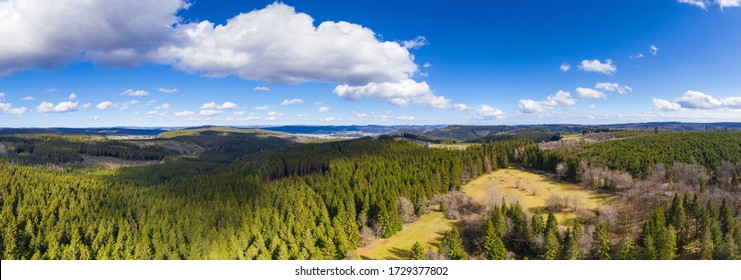 german forest landscape high definition panorama