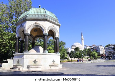 German Fountain in old Hippodrome, Sultanahmet Square, Istanbul, Turkey. Fountain was donated by  German Empire to the Ottoman Empire  in memory of the second visit by Kaiser Wilhelm II to Istanbul