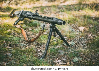 German Guns Of World War II - A MG 42 Machine-gun.  7.92x57mm Mauser General Purpose Machine gun.