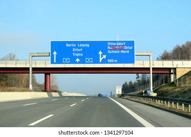 German Highway, Bavaria, Germany, 20.20.2019