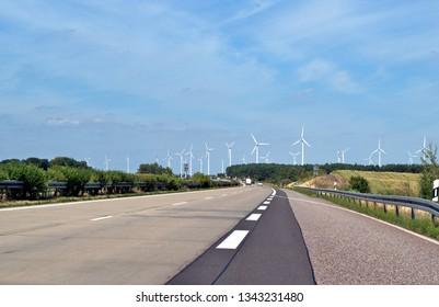 An German Highway, Mecklenburg, Germany, 20.02.2019