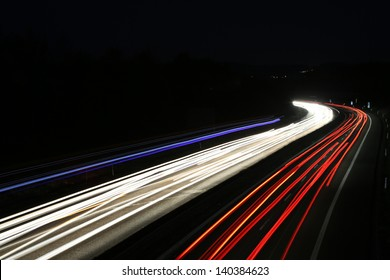 german highway at night