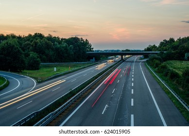 German Highway at Sunset