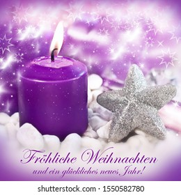 German:  Merry Christmas and Happy New Year