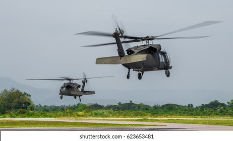 german military helicopter in flight , Military helicopter landing