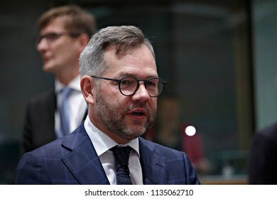 German Minister of State for Europe Michael Roth  attends a European Union foreign ministers meeting in Brussels, Belgium July 16, 2018.