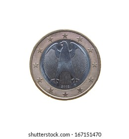 German One Euro coin isolated over a white background