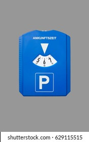A german parking disc isolated on grey