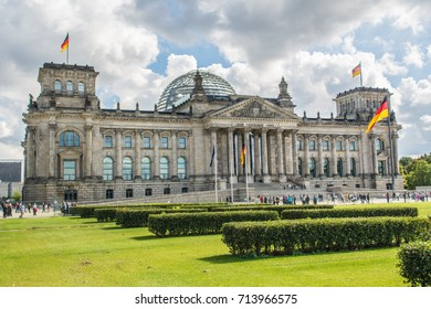 German parliament building (Reichstag) in Berlin, Germany