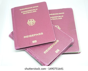 German Passports laying on eath other