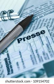 German press card