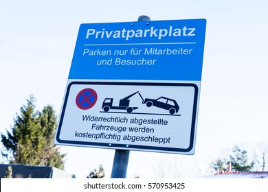 german private parking sign