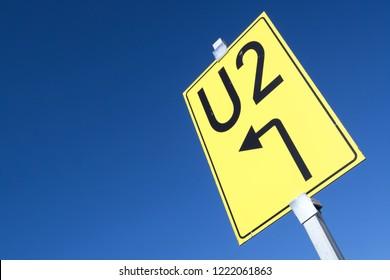German road sign: detour sign (U2)