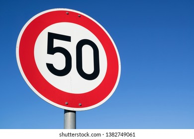German road sign: speed limit 50 km/h
