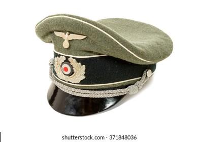a german in the Second World War. German officer uniform cap