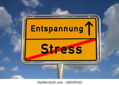 german sign - Stress Entspannung