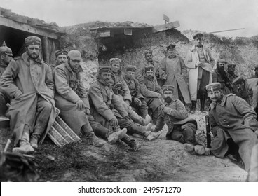 German soldiers at Berry-Au-Bac, France, during World War I. Sept. 1914.