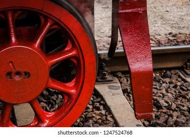 German Steam Locomotive, Rod drive of a steam locomotive, wheel