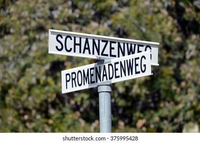 German street signs, Windhoek, Namibia