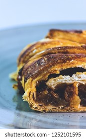 German strudel made with pastry, apples and raisins