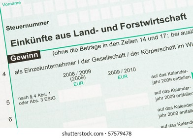 German tax form for farmers tax