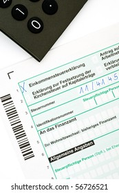 German tax form for the tax year 2009