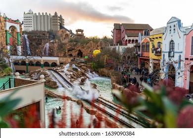 "The German theme park ""Phantasialand"" on 02.01.2020"