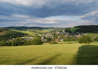 German town in fall