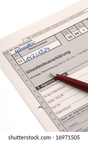 German VAT-form form is waiting to be completed