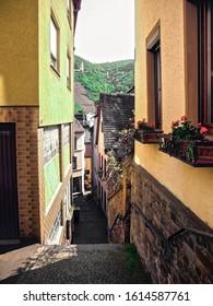 German village side street walkway.