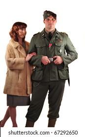 German WW2 Reenactment fashion pose