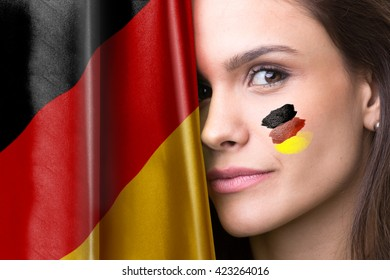 German young female fan