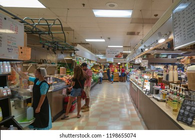 GERMANTOWN, USA - AUGUST 30, 2018: Inside an store of Amish community. The Amish are known for simple living, plain dress, and reluctance to adopt many conveniences of modern technology.